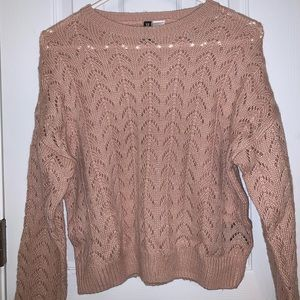 Divided Pink Sweater